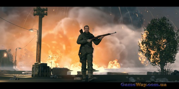 Cкриншоты геймплея sniper elite v2