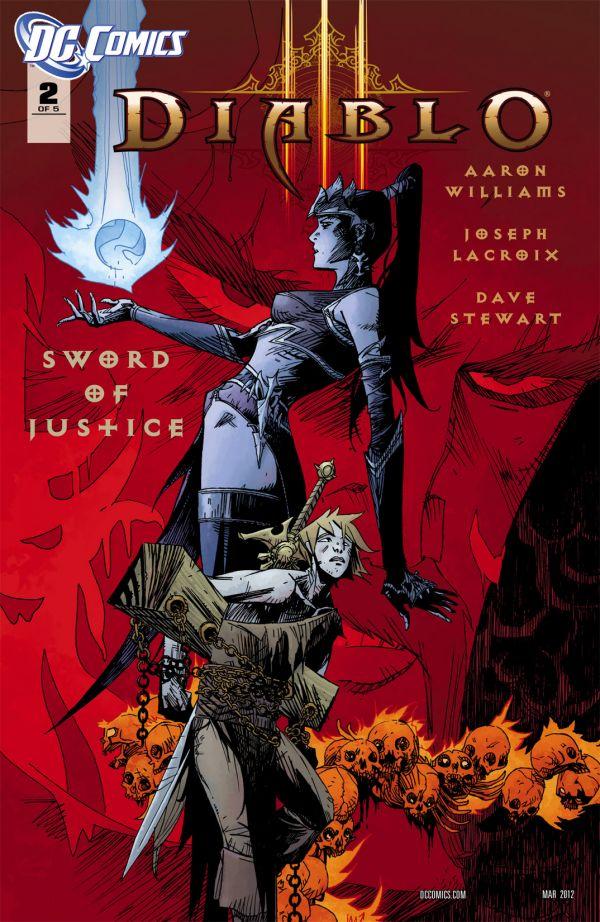 Второй выпуск Diablo 3: Sword Of Justice обложка комикса