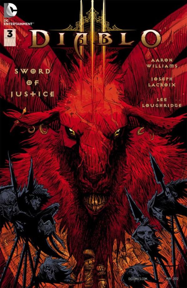Третий выпуск Diablo 3: Sword Of Justice обложка комикса
