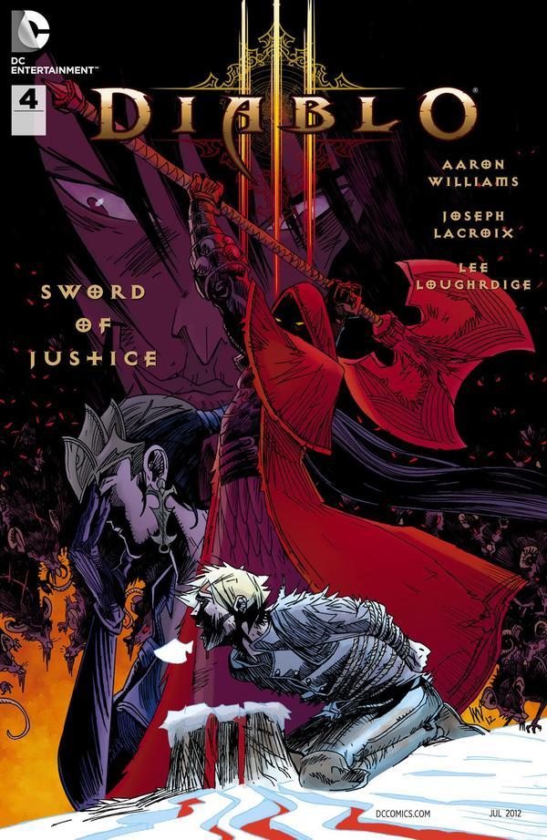 Четвертый выпуск Diablo 3: Sword Of Justice обложка комикса