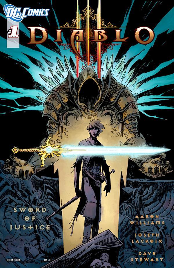 Первый выпуск Diablo 3: Sword Of Justice обложка комикса