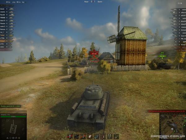 Скриншот геймплея обновления World Of Tanks 0.8.0