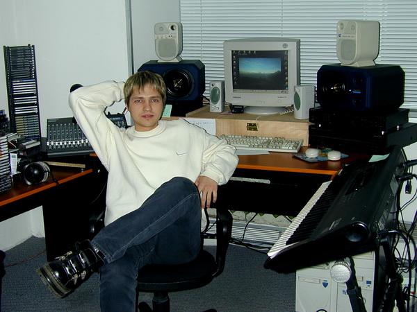 Евгений Жуков, рабочее место в 2000 году