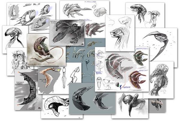 skyjacker арт инопланетных кораблей