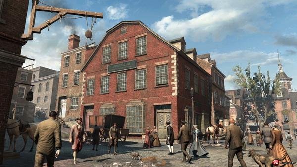 Города теперь не могут похвастатся своими высокими зданиями, как это было в прошлых частях игры. Маленькие невысокие домики - вот, что характерно для времен XVIII века.