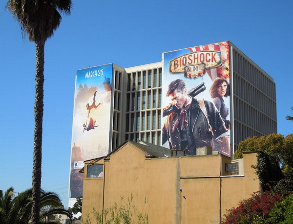 Реклама игры bioshock infinite на здании в США