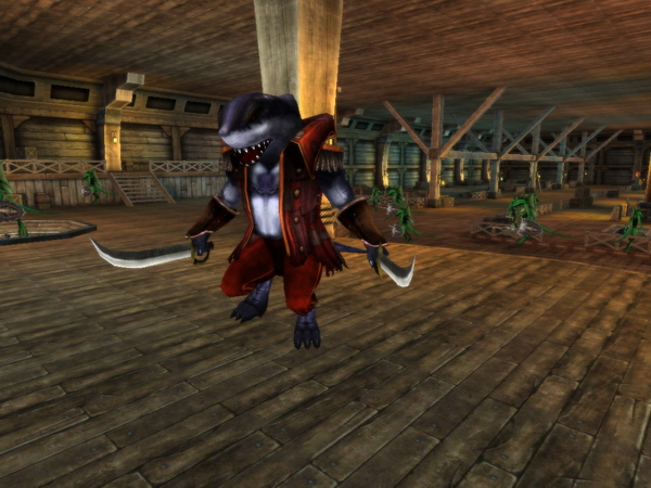 Karos online, на корабле офицер с мечами