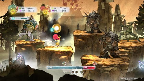 Скриншоты геймплея Child of Light
