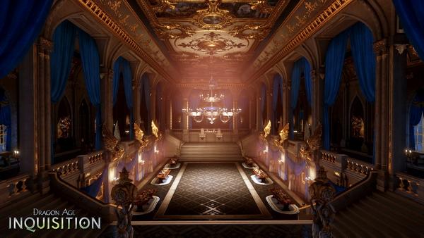 Зимний дворец в Dragon Age: Inquisition - скриншоты интерьера