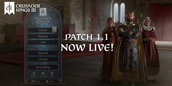 Вышел огромнейший патч 1.1 для Crusader Kings 3, который мы заслужили