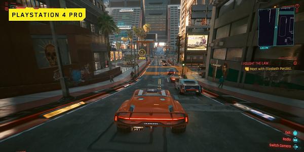 Геймплей Cyberpunk 2077 на PS4 Pro и PS5 (4K видео)